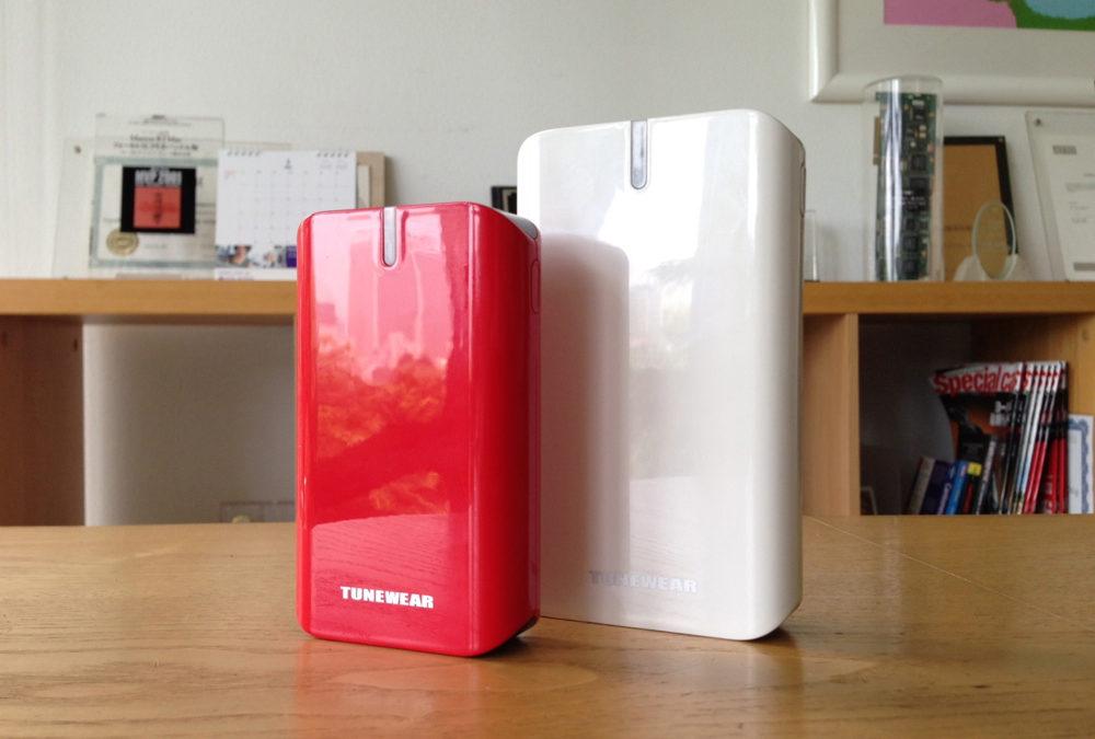 超大容量ポータブルバッテリー「TUNEMAX BARREL 14000 / 9000」のサイズ感。