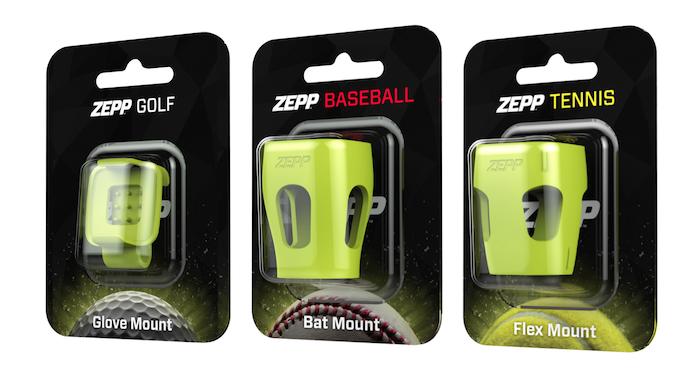Zeppスイングセンサー用の各スポーツ用マウント、オプション品として発売開始します。