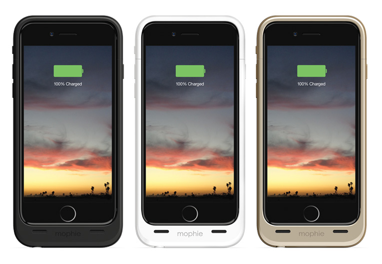 「mophie juice pack for iPhone 6」シリーズ、明日から発売。予約受付開始!