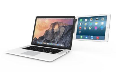 MacにiPadやiPhoneを取り付ける「Mountie」