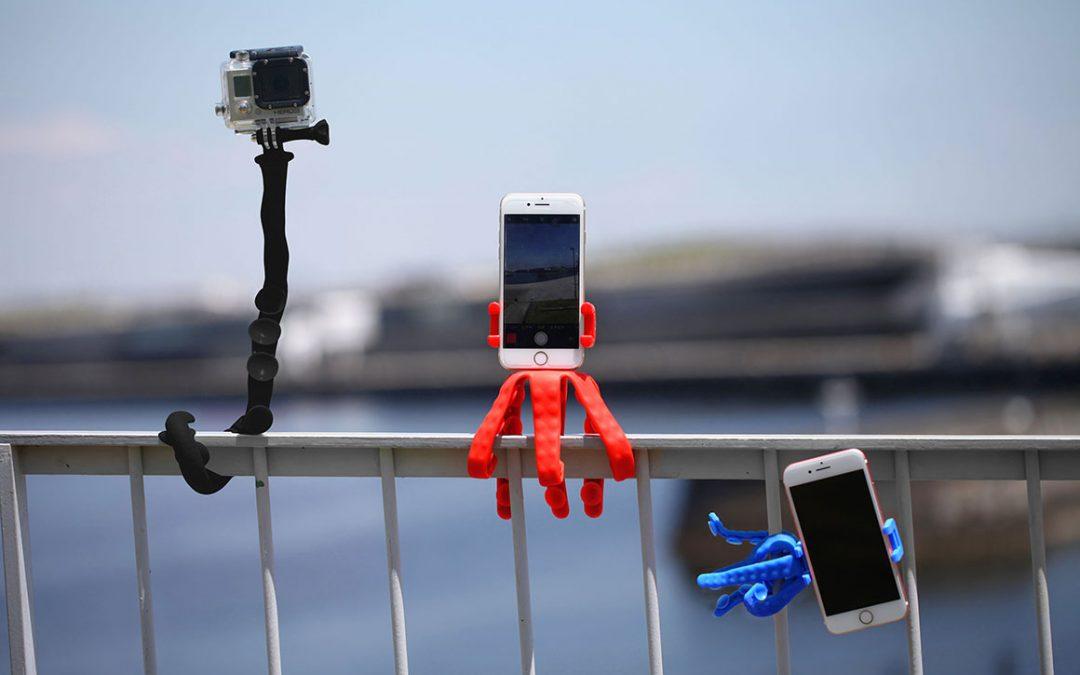 イタリア発、イカ型三脚スクイディがファミリーと日本上陸!フレキシブルに使えるカメラマウントをクラウドファンディングで先行予約販売!