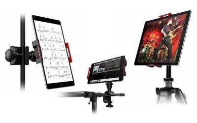 IK MultimediaからiPad、タブレット用のユニバーサルなスタンド・マウントが登場!ステージ・パフォーマンスをシンプルにする「iKlip 3」を販売開始!