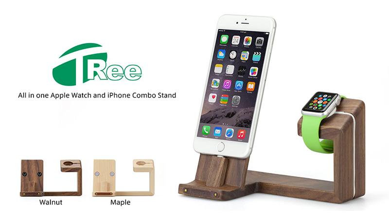 iPhoneも同時に使えるApple Watch用スタンド、iPad miniもOK!
