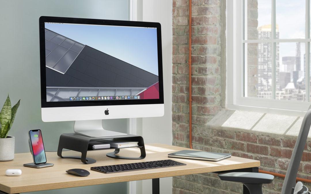 人間工学に基づいたTwelve Southの人気PCスタンドのiMac/ディスプレイ版「Curve Riser」登場!iMacやディスプレイの高さを変えてストレスを軽減しよう。